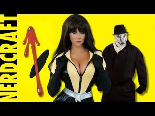 Angie Griffin: How to Make Watchmen Rorschach Mask -  Nerdcraft ft Silk Spectre Cosplay