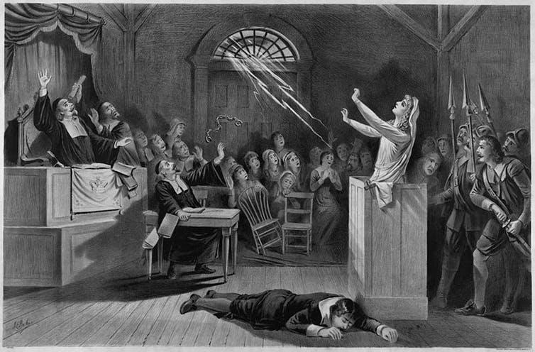 1892 год — суд над ведьмами г. Салем. Библиотека Конгресса США