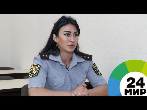 Девушка с характером жительница Азербайджана полицейский и пауэрлифтер