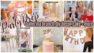 PARTY PREP / DIY BALLERINA BIRTHDAY BRUNCH / CLEAN + DECORATE WITH ME / BEASTON HOMEMAKING