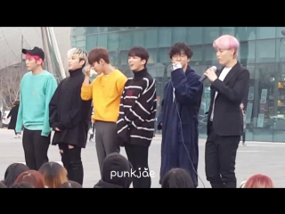 FANCAM - 14-03-2017   Мини-фанмитинг после MBC «Show! Music Core»