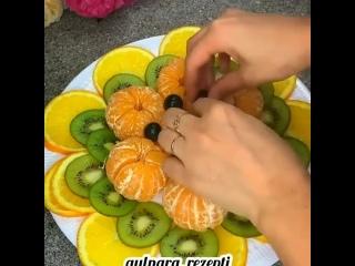Ещё одна красивая фруктовая нарезка🌸