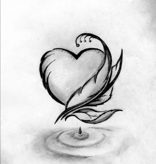 drawings of hearts - 736×885