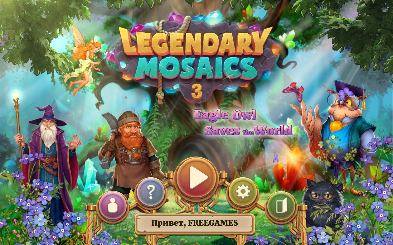 Легендарные мозаики 3: Филин спасает мир | Legendary Mosaics 3: Eagle Owl Saves the World Multi (Rus)