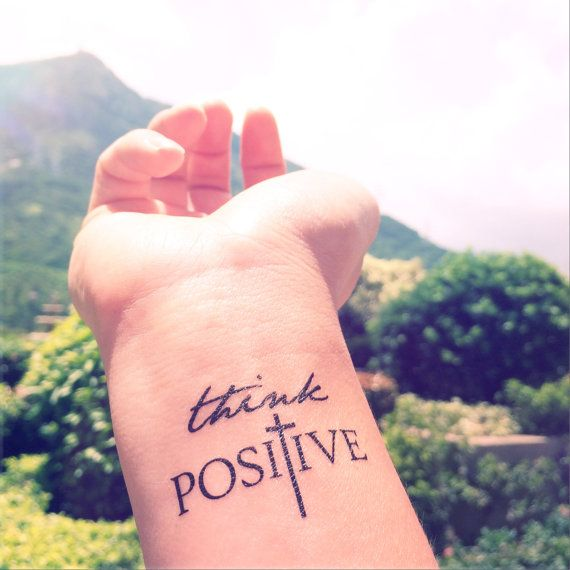 think positive tattoo - HD1024×1024