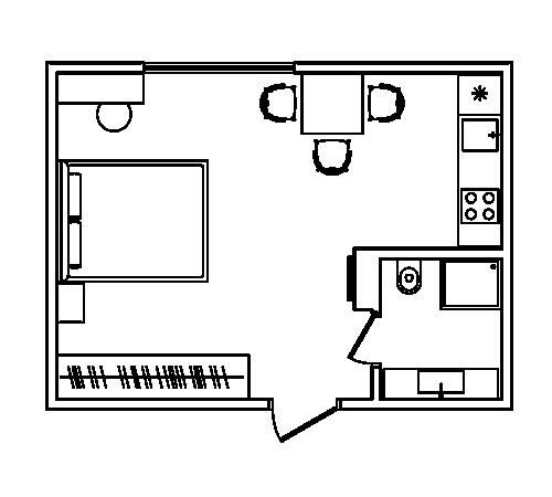 Дизайн-проект апартаментов 30 м.