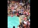 Fail backflip on the poolparty