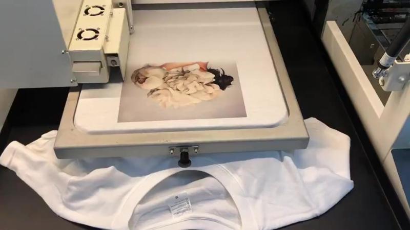 Печать принта на футболке (хлопок)