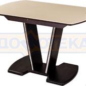 Стол обеденный  Румба ПО КМ 06 ВН 03 ВН, венге, камень песочного цвета