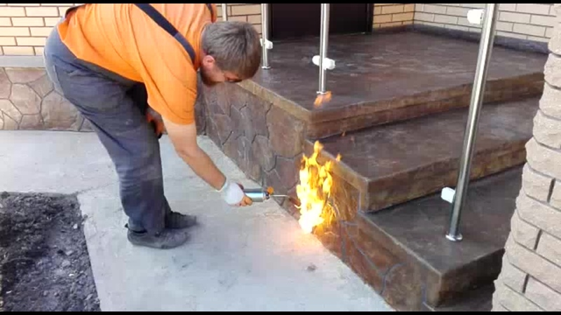 Отделка цоколя обжигание фибро волокна ДизайнБетон