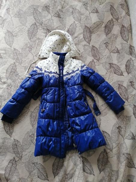 1 фото - Зимнее пальто для девочки, на рост 140см....