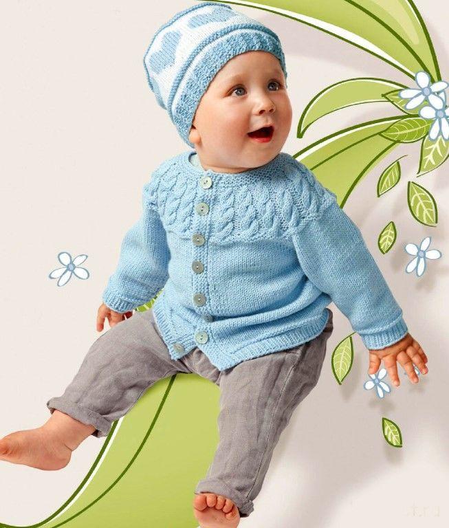 Жакет и шапочка для малышей