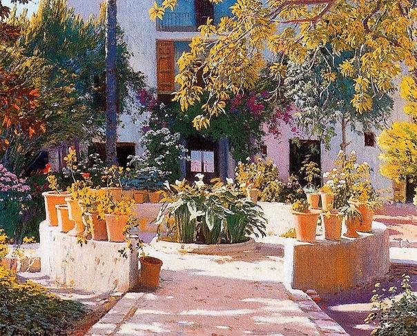 Сантьяго Рузиньол-и-Пратс  живописец из Каталонии, поэт, прозаик, драматург и один из самых известных каталонских художников-постимпрессионистов, автор сатирического журнала, график