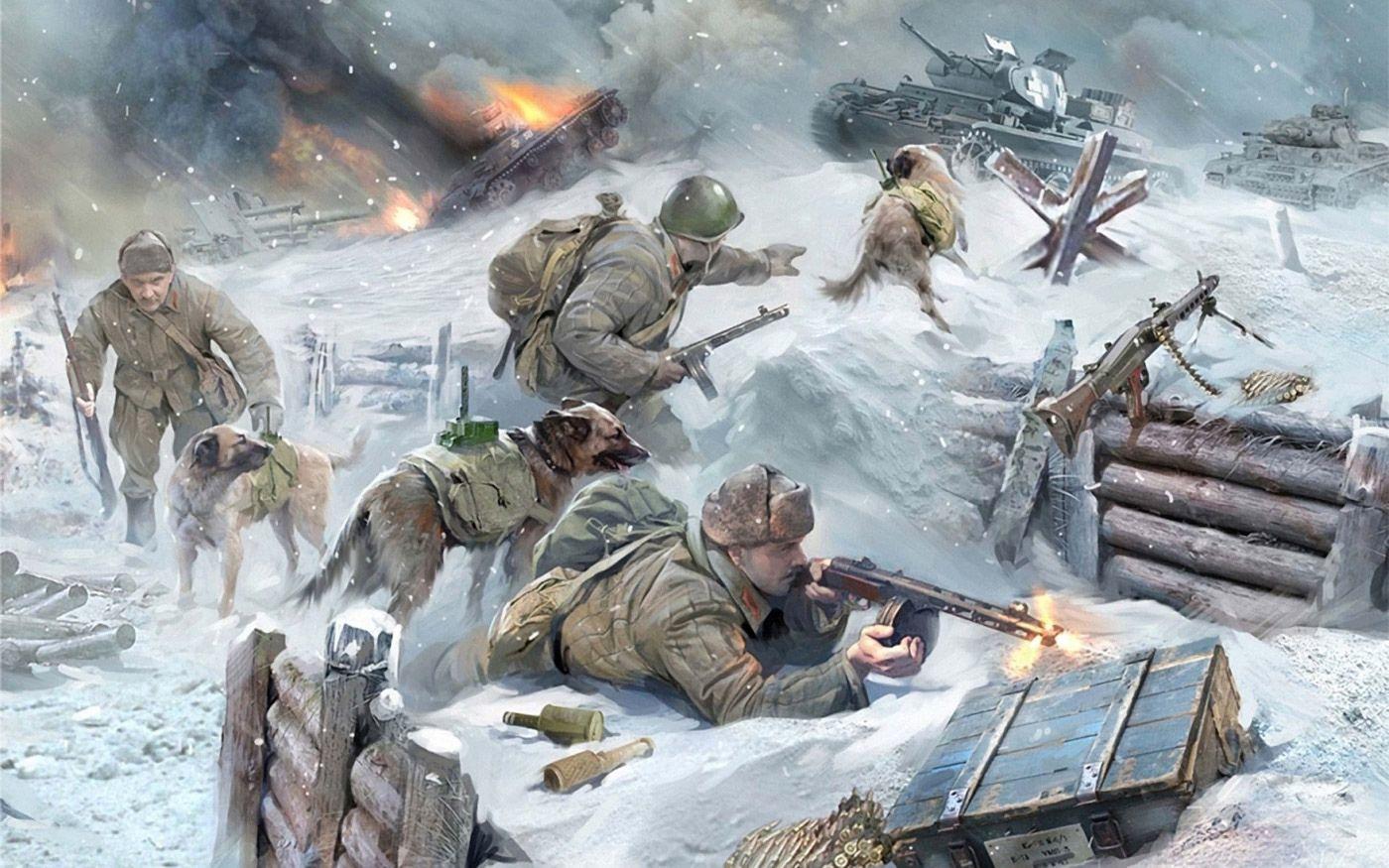 В преддверии Великого Дня Победы.  Четырехлапым защитникам
