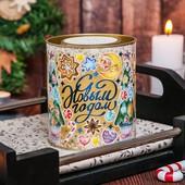 Чёрный листовой чай с чабрецом / подарочный чай на Новый год