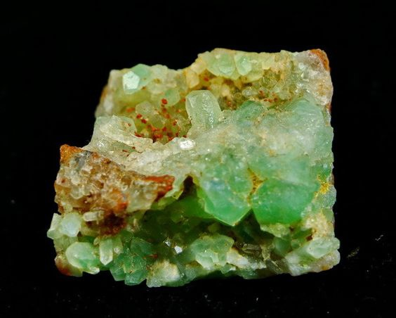 Unheated Green Prehnite Crystal Specimen