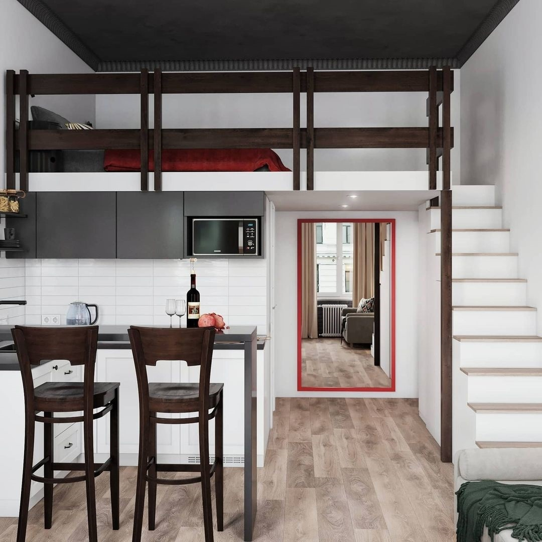 Проект двухуровневой квартиры-студии 21 кв.