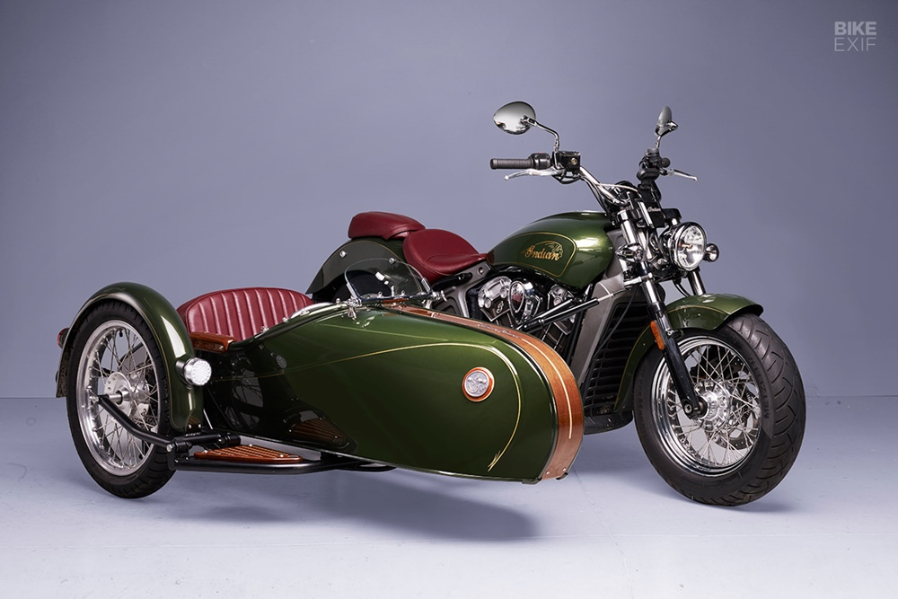 Alternative Sidecar: кастом Indian Scout Sidecar из Франции
