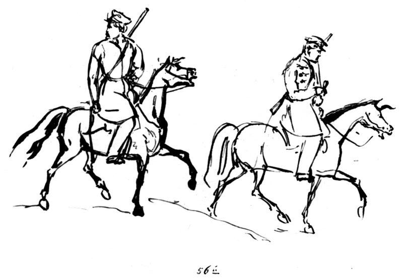 Всадники с ружьями. М.Ю.Лермонтов (Юнкерская тетрадь)