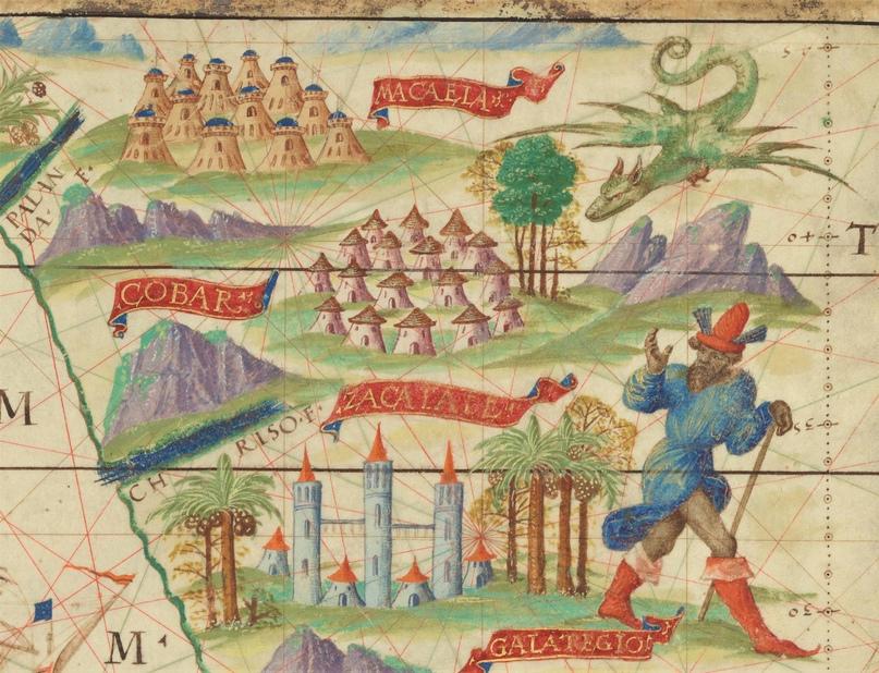 Китай. Фрагмент карты из Атласа Миллера (1519)