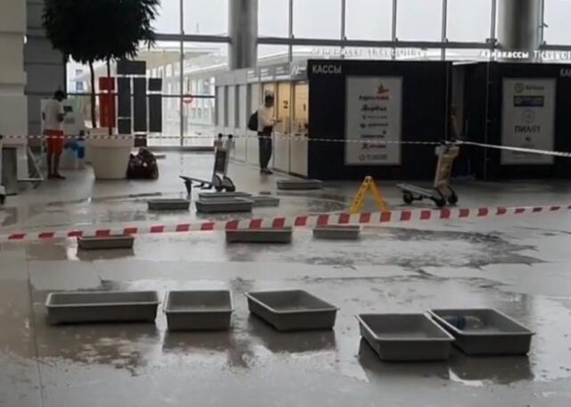 Вице-премьер Крыма прокомментировал протекающую крышу аэропорта Симферополь