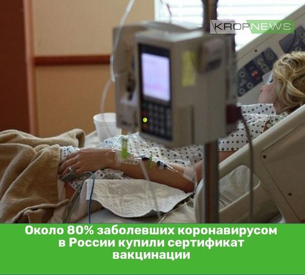 Около 80% заболевших коронавирусом в России купили...