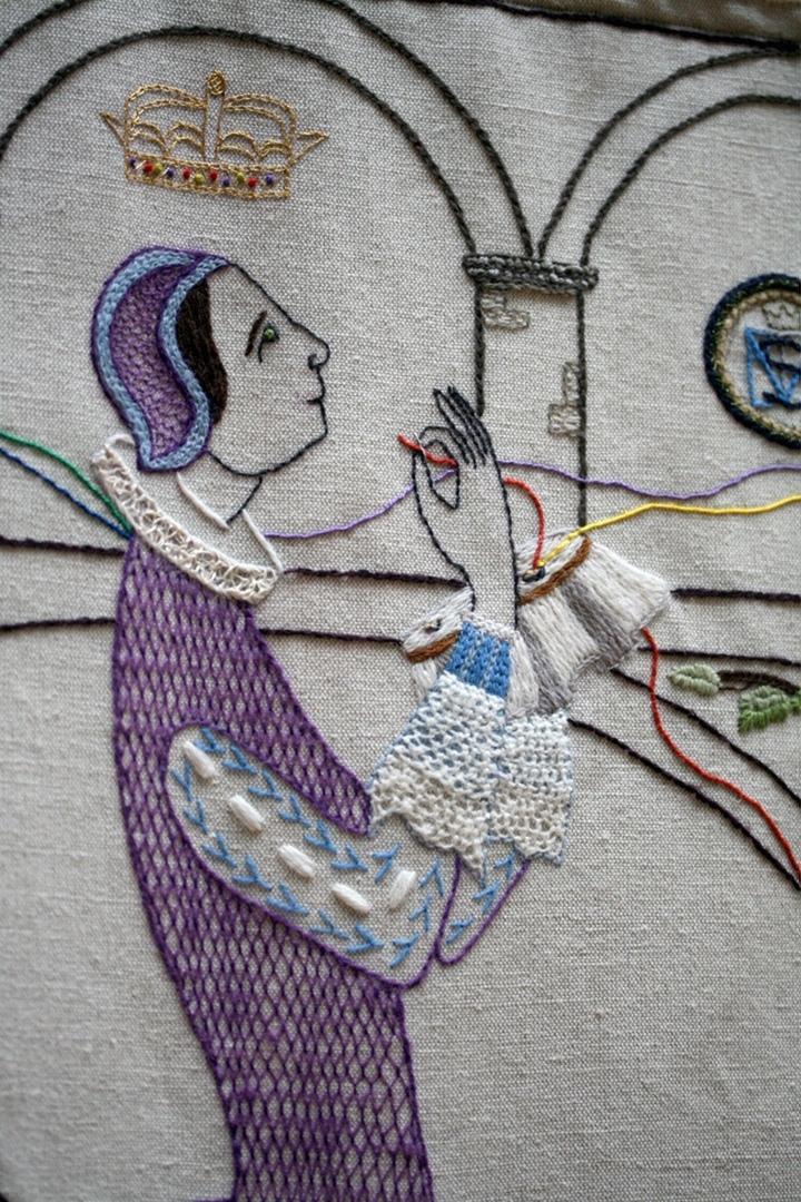 Мария, королева Шотландии, в мечтаниях вышивает. 1542 -1587 г.г.