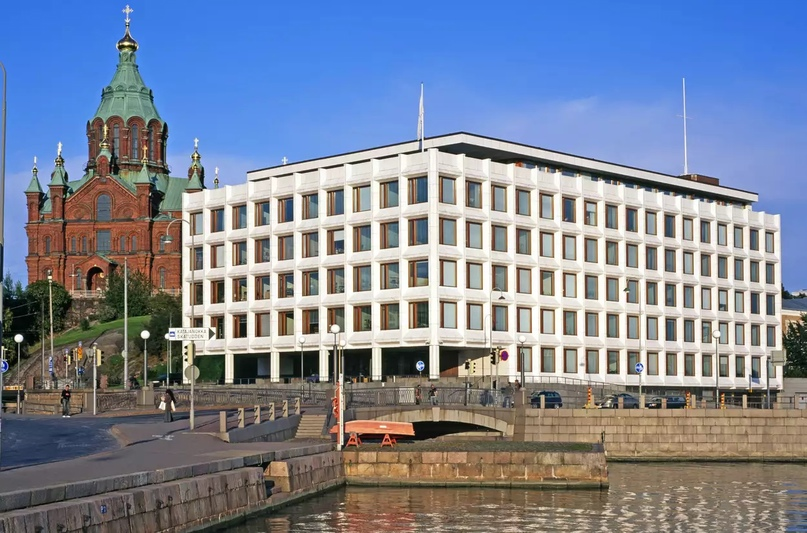 Штаб-квартира компании Alto Alvar Aalto Enso-Gutzeit в Хельсинки, Финляндия. Фото Мурата Танера / Выбор фотографа / Getty Images (обрезано)