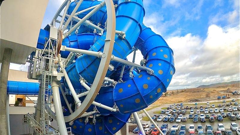 AquaSpinner Waterslide Europe's first Rotating Slide Aquapark Reda