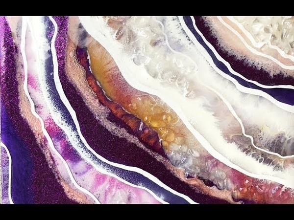 Рисование эпоксидной смолой с технике жеода 02