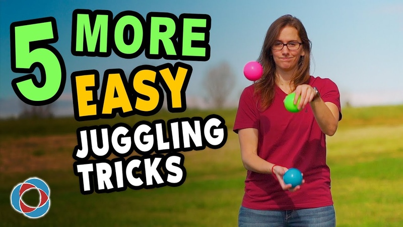 5 MORE Easy JUGGLING TRICKS - Beginner Tutorial