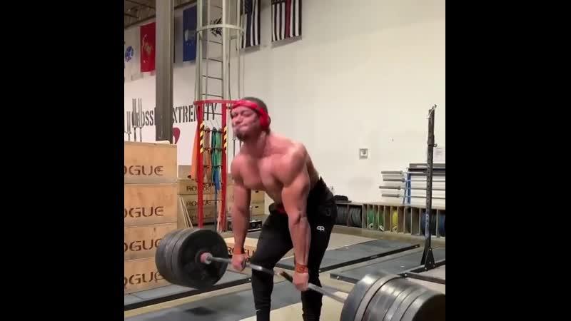 Ларри Уилс тянет 330 кг на 12 раз
