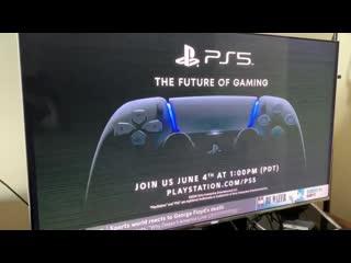 Реклама презентации игр для PlayStation 5 на американском кабельном