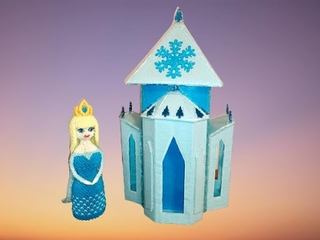 HOW TO MAKE PRINCESS ELSA OUT OF PAPER | 3D ORIGAMI | TUTORIAL