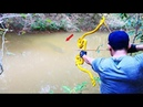 Building Amazing New Style PVC Rubber Power Bowfishing For Shooting Huge Fish -Make n Use