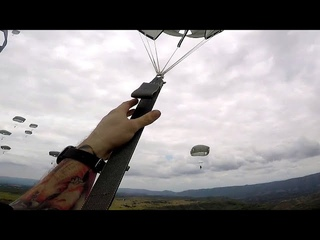 Army Paratrooper Provides First Person View Of An Airborne Operation Over Colombia