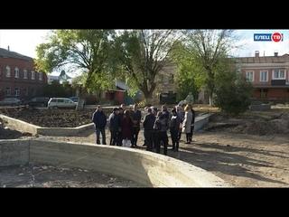 Сроки, качество и темп работ: в Ельце прошла плановая проверка реконструкции скверов