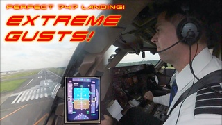 B747 LANDING, EXTREME STORM GUSTS! National Airlines USA 🇺🇸: Enrique's TOP Tokyo Landing [AIRCLIPS]