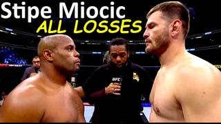 Stipe Miocic ALL (3) LOSSES in MMA Fights / STONE COLD KO's