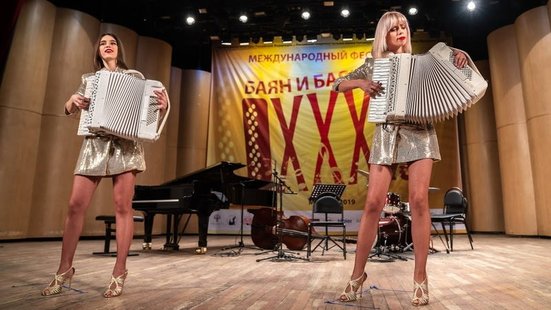 Аккордеонистки России Дуэт ЛюбАня accordion duo КОНЦЕРТ LIVE