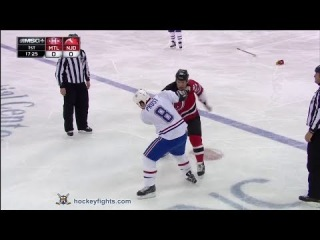 Brandon Prust vs Cam Janssen Dec 4, 2013
