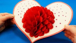 Восхитительная 3D Открытка Цветок своими руками