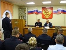 Главный полицейский региона посетил районный отдел полиции