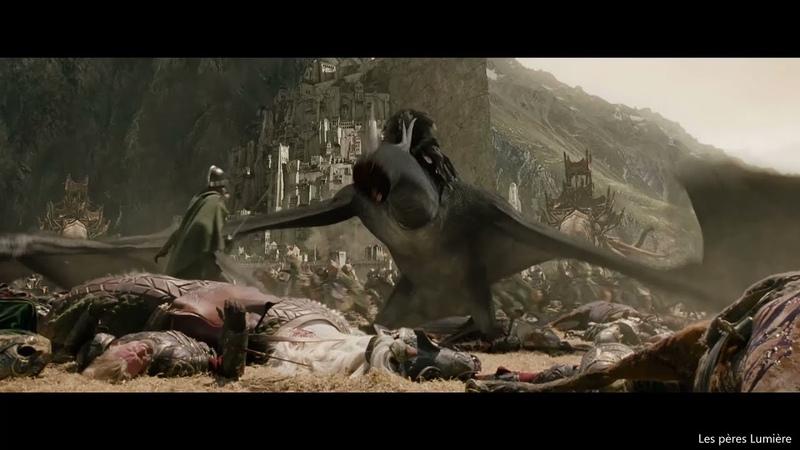 Эовин убивает Короля чародея Арагорн приплывает с армией мертвых
