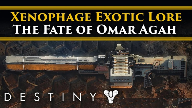 Destiny 2 Shadowkeep Lore Xenophage Exotic Weapon Lore Omar Agah Lives The horrors of The Pit