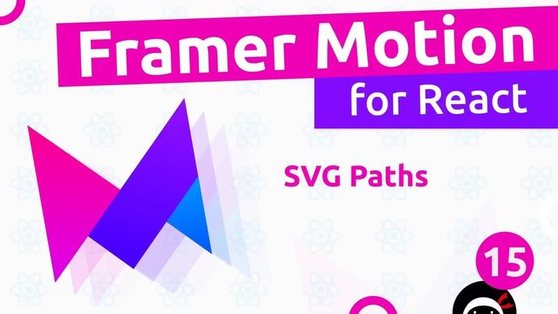Framer Motion for React 15 Animating SVG's
