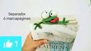 DIY Marcapáginas, separador de libros ranita amigurumi crochet