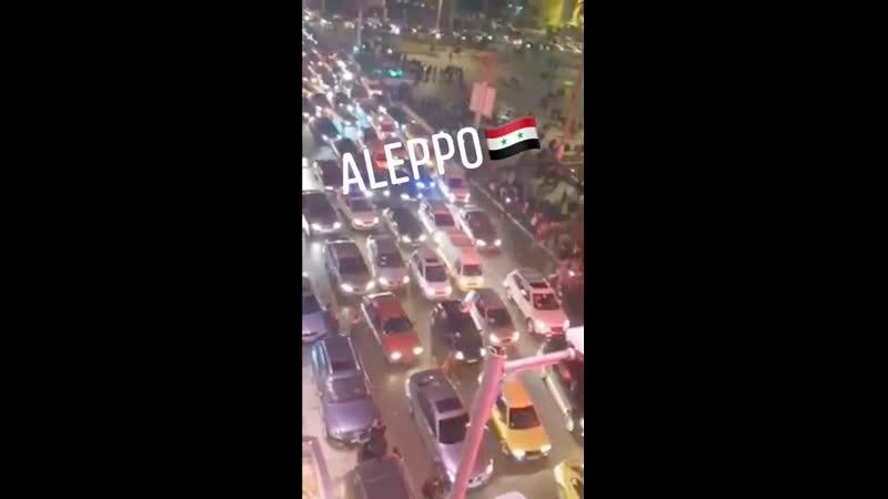 Aleppo Bewohner feiern Sieg xfc ber Al Kaida