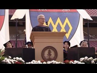 Речь Тима Кука перед выпускниками Стэнфорда с русскими субтитрами