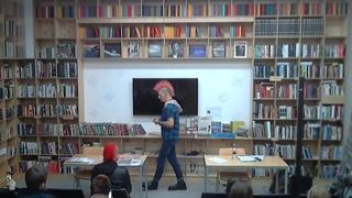 "видео ""Презентация журнала Punk's Revival+лекция о развитии фэн-зинов. Б-ка БУК г.Вл-к """